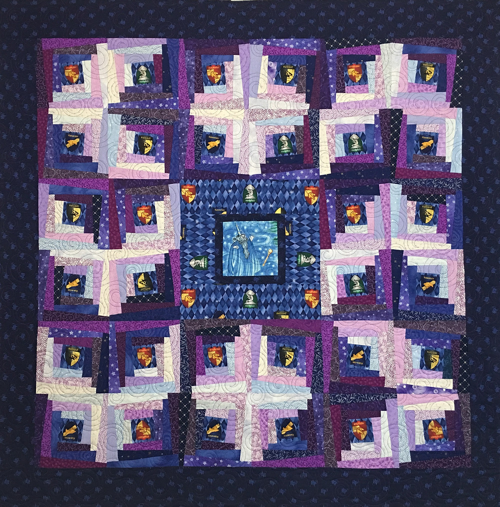 Harry Potter Magical Log Cabin quilt by Sandra Mitchell