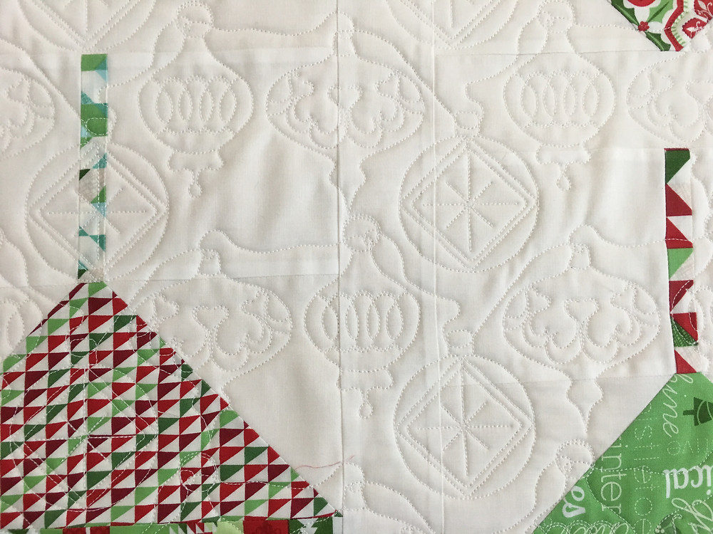 Another Closeup of Ornament Quilting Design