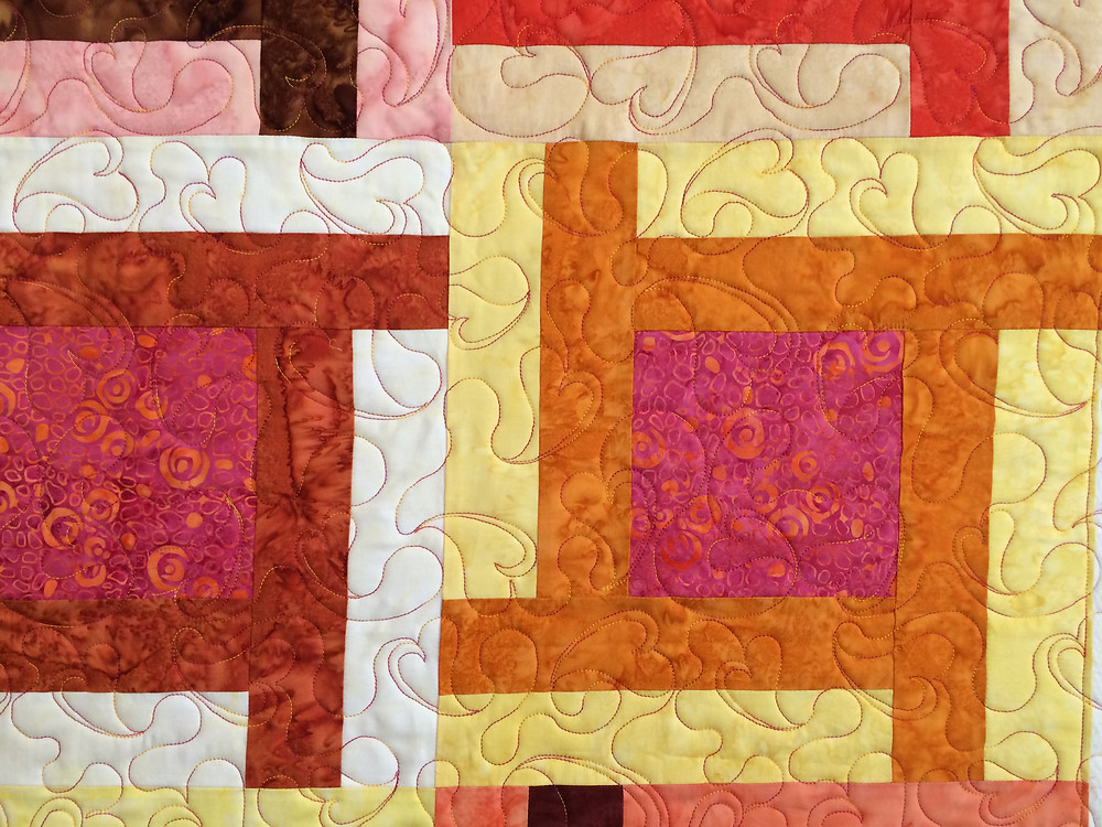 Lisa Fahlquist Brilliant Colors in Batiks Quilt
