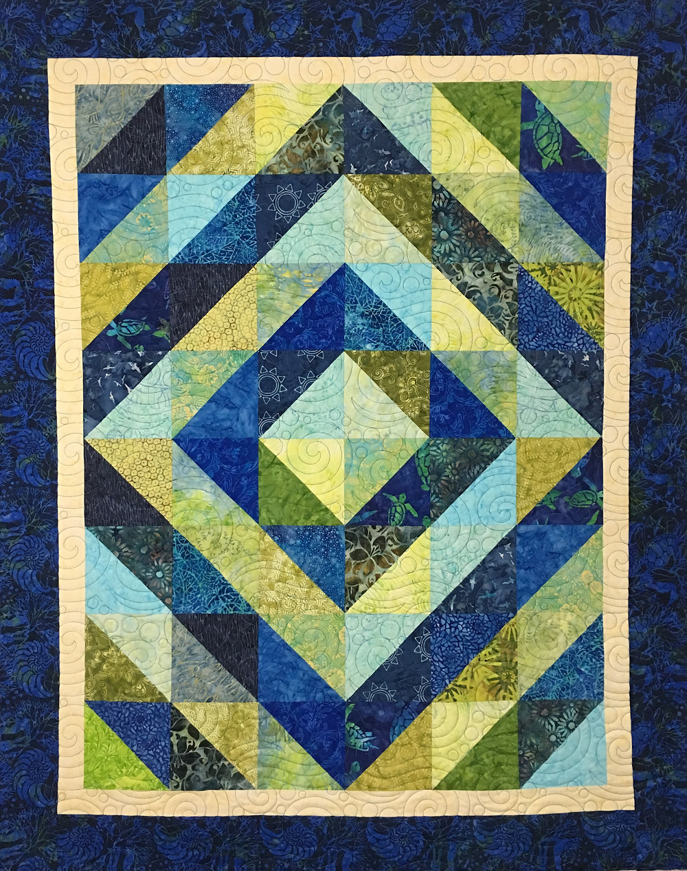 Square in a Square Quilt by Cindy Manning