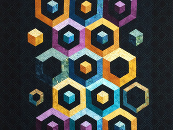 Debbie Seitz Geometric on Black Quilt