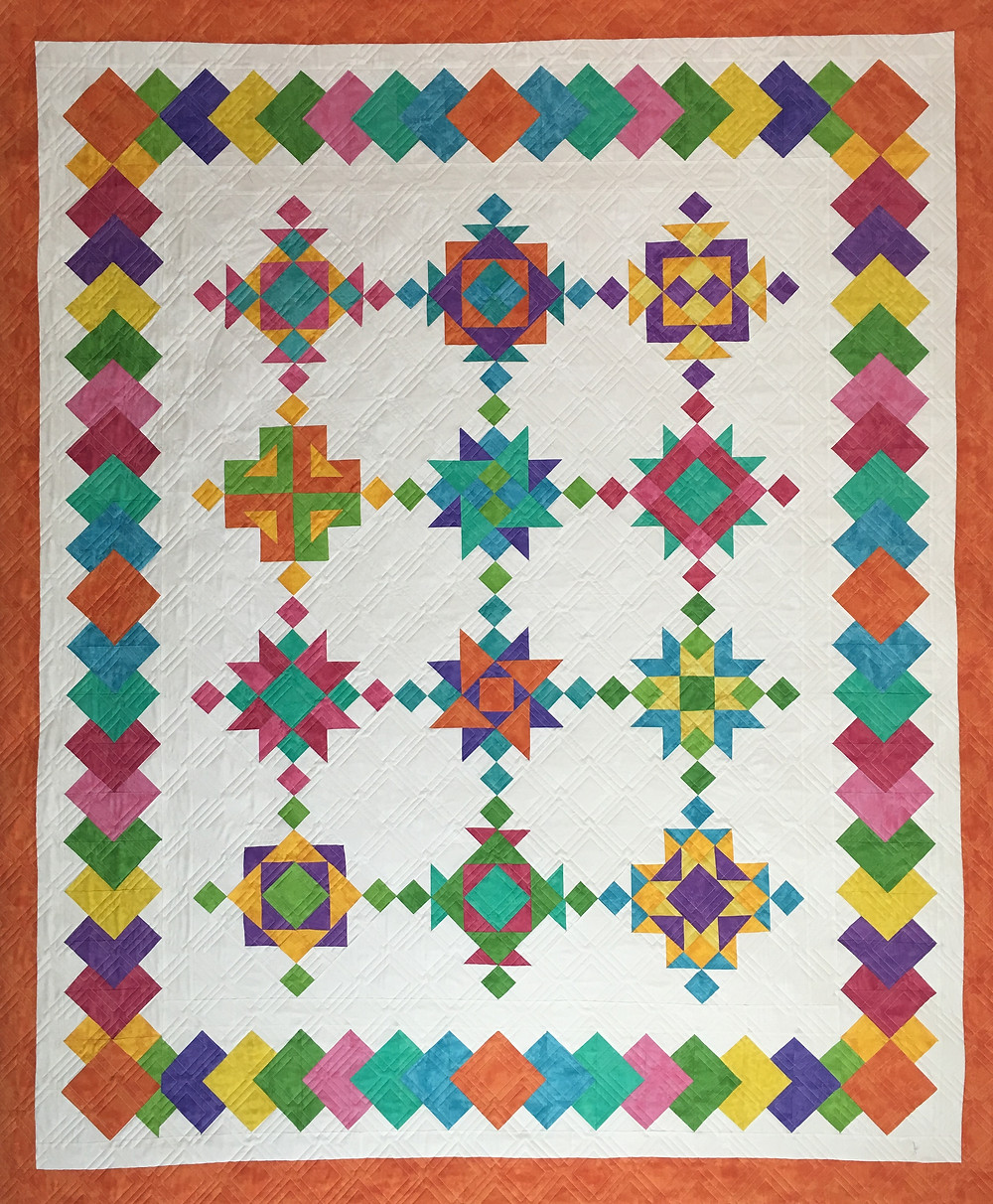 New Age Block of the Month Quilt by Chris Olsen