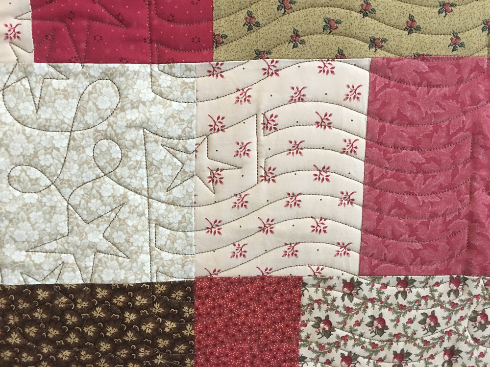 Flag Quilting Pattern on Amy Gibbs Quilt