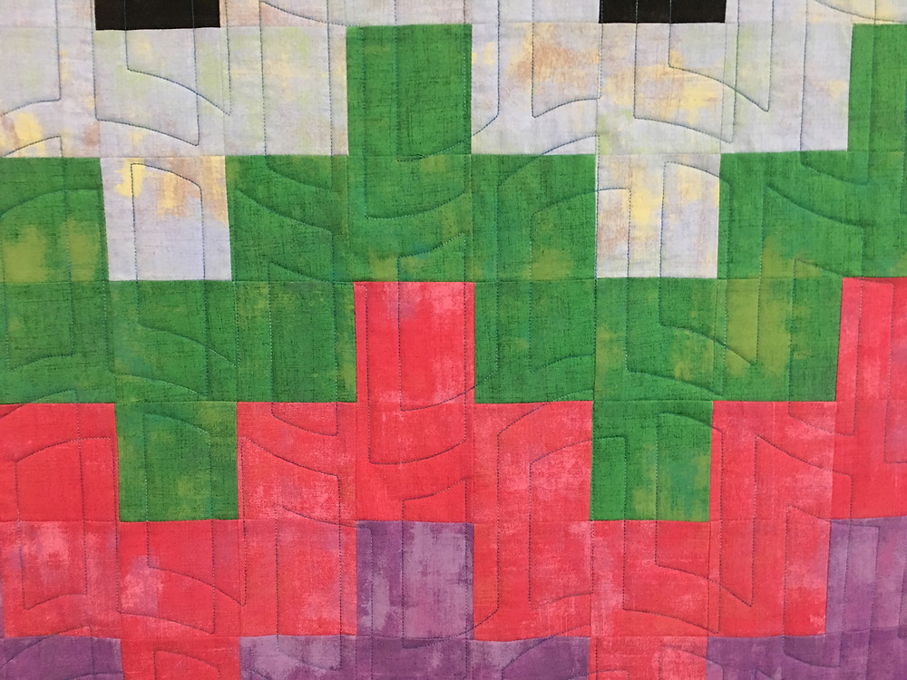 Geometric Quilting on Tesellating Squares by Peggy Krebs