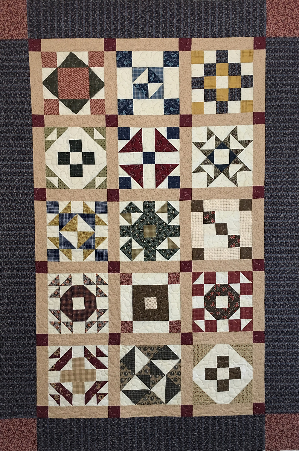 Civil War Block of the Month Quilt by Sandra Entjer