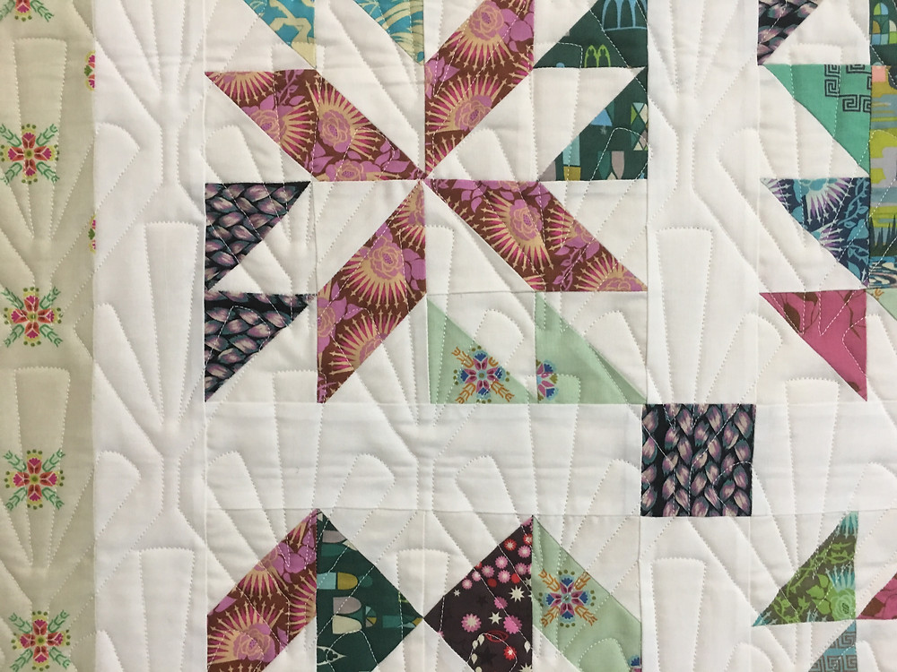 Geometric Quilting Pattern on Sew Sampler by Sarah Price