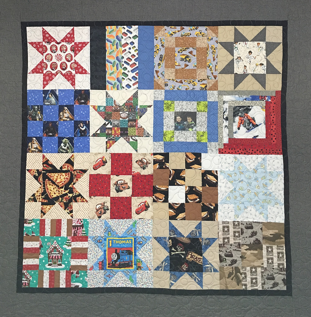 Mrs. Maker Cute Boys Memory Quilt