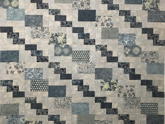 Cheryl Cohorn Shades of Blue and Gray Quilt