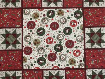 Cynthia Parra Christmas Table Topper Quilt