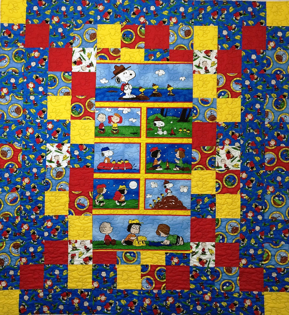 Peanuts Quilt by Kelly Sears