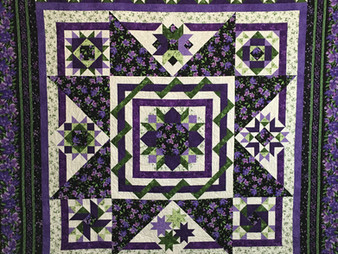 Pam OKane Stars Among the Violets Quilt