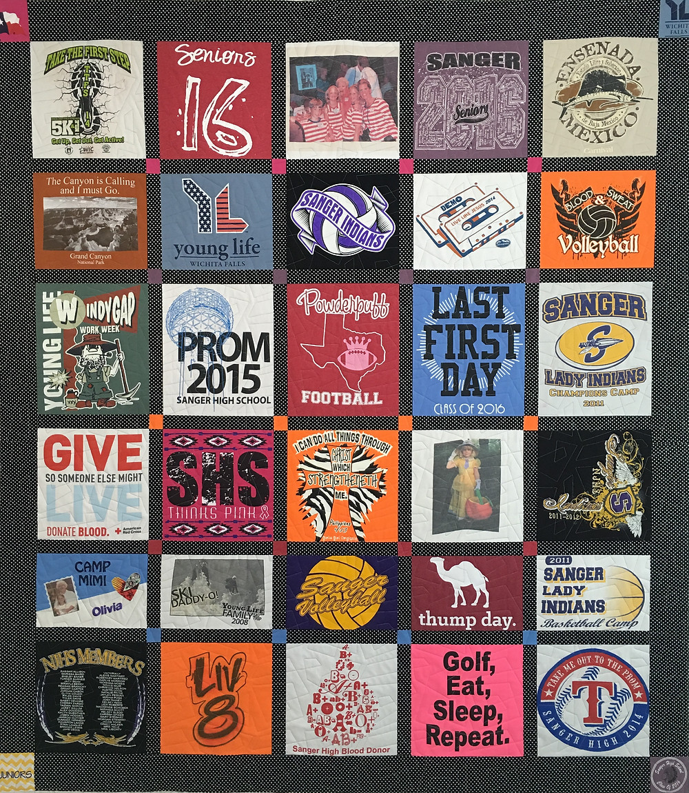 College Freshman T Shirt Quilt by Mette Brown