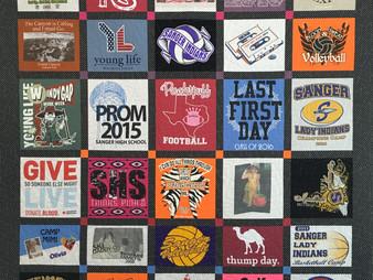 Mette Brown College Freshman T Shirt Quilt