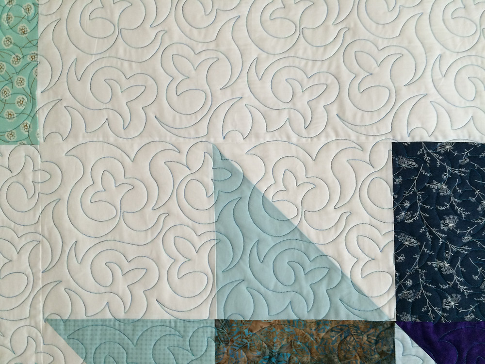 Another closeup of Heather Johnson Star Quilt with lovely quilting