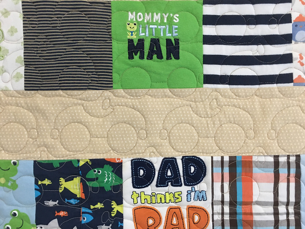 Cars quilting pattern on Quilt for Boy by Lindsay Hall