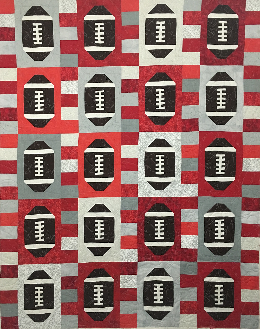 Touchdown Football Quilt by Joan Salesman