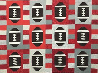 Joan Salesman Touchdown Football Quilt