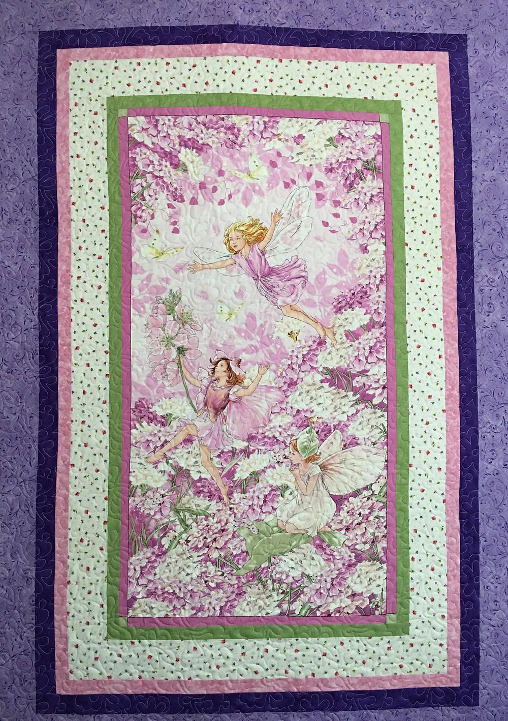 Terri Baby Quilt with Fairy's