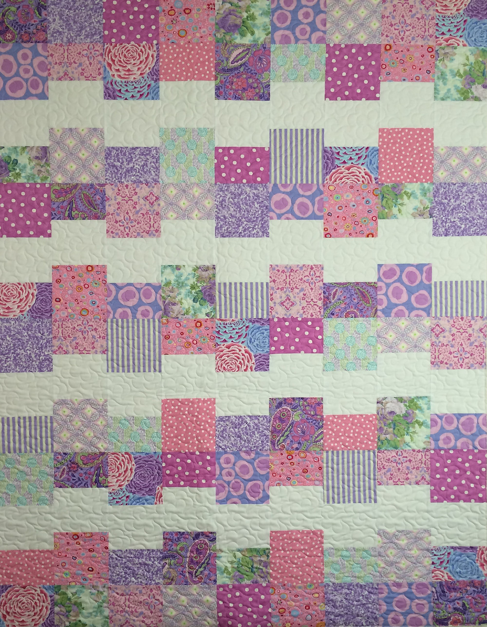 cloud 9 quilt in spring color fabrics