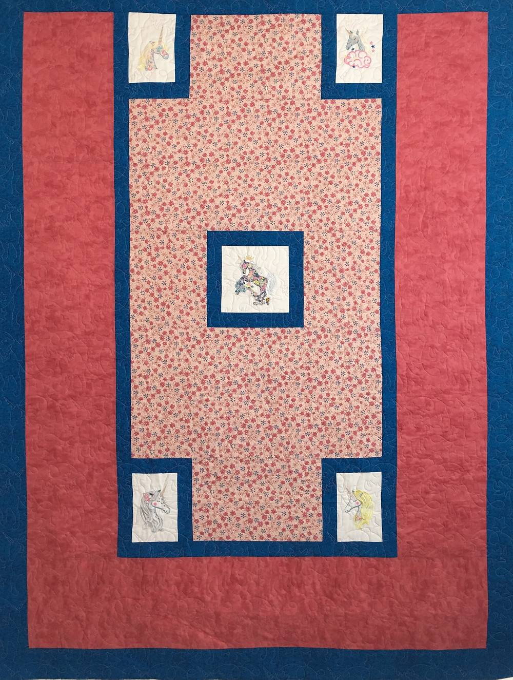 Unicorn Quilt by Peggy Krebs