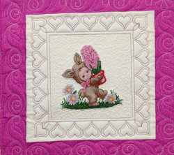 Embroidery Rabbit on BabyQuilt