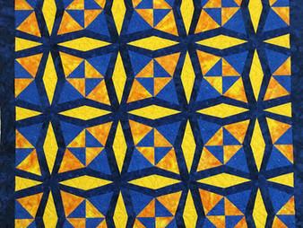 Lisa Fahlquist Fractured Kaleidoscope Quilt