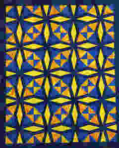 Fractured Kaleidoscope quilt by Lisa Fahlquist
