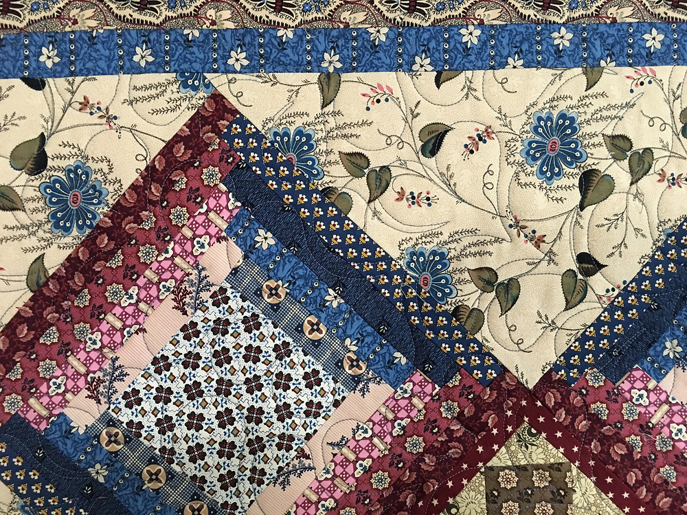 Closeup of Janet Jones civil war quilt