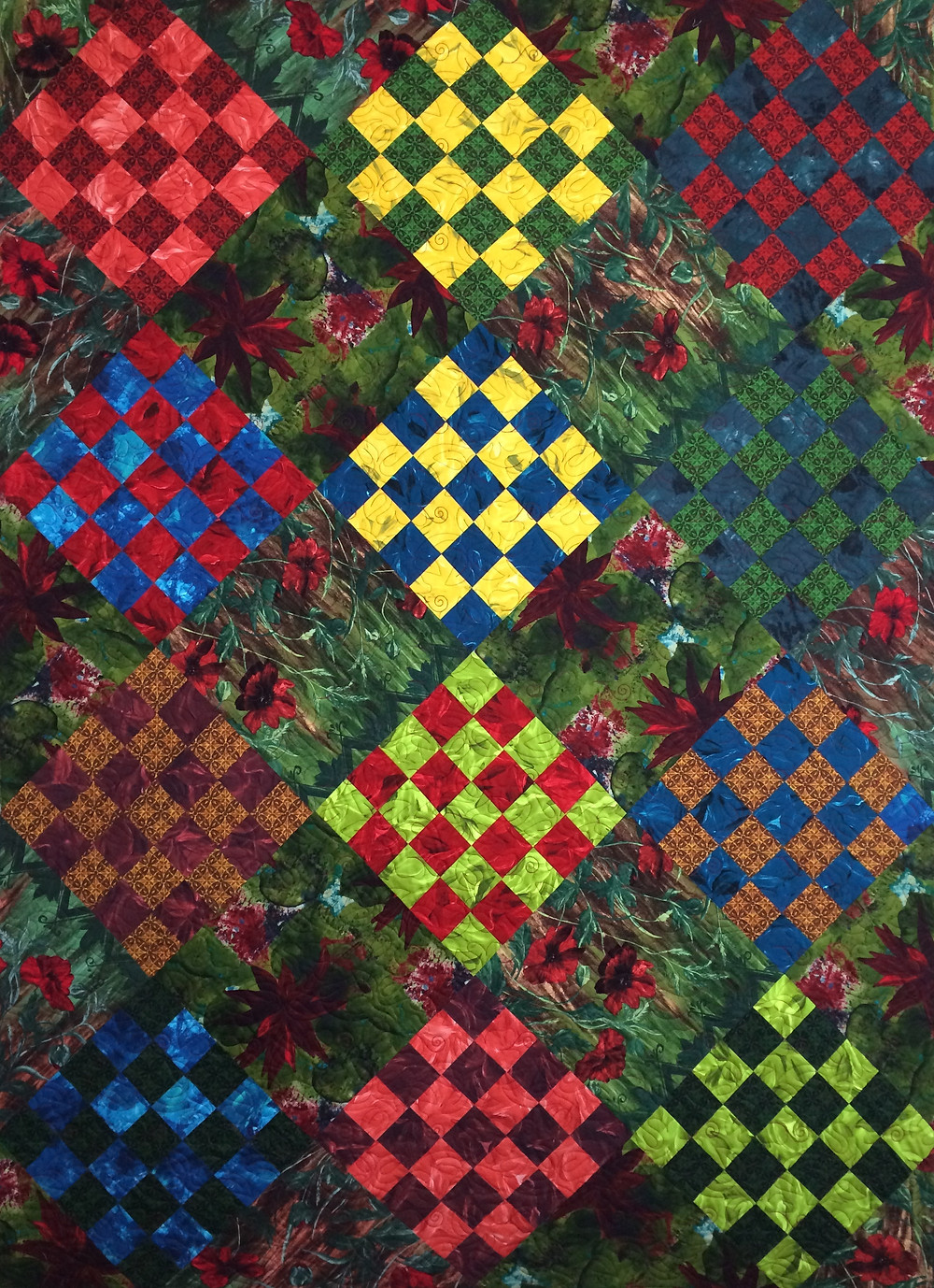 Beth Blocks on Point Quilt