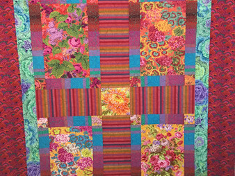 Penny Wheat Very Bright Blocks Quilt