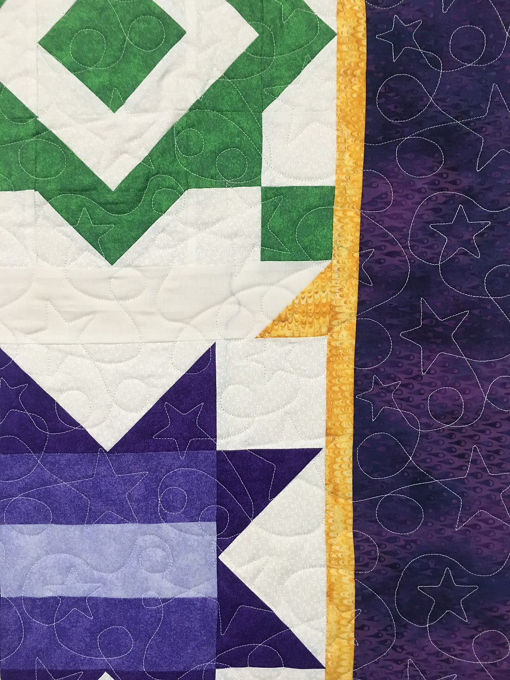 Another close up of Mary Starry Wonders Quilt