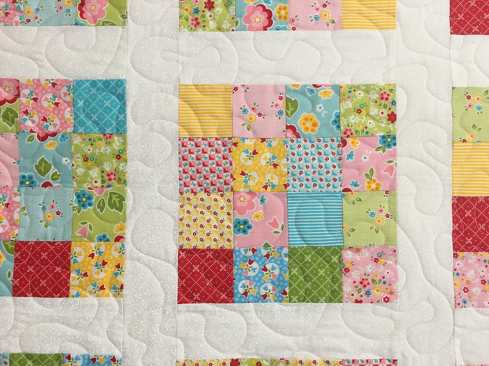 Meander Quilting Pattern on Sweet Sixteen Quilt by Naomi Roach