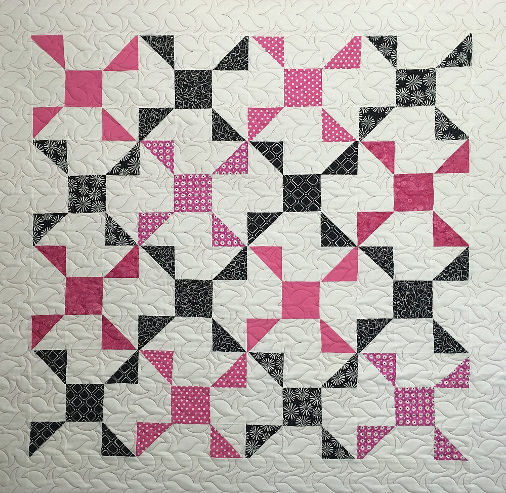 Pinwheels with a Twist Quilt by Nancy Thornton
