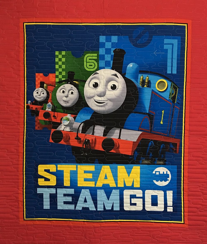 Thomas the Train Quilt by Elsa Murray