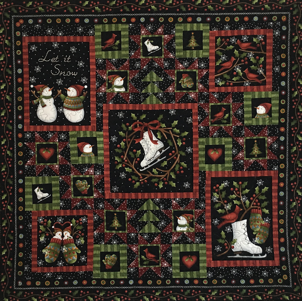 Crazy for Christmas Quilt by Leslie St.Onge