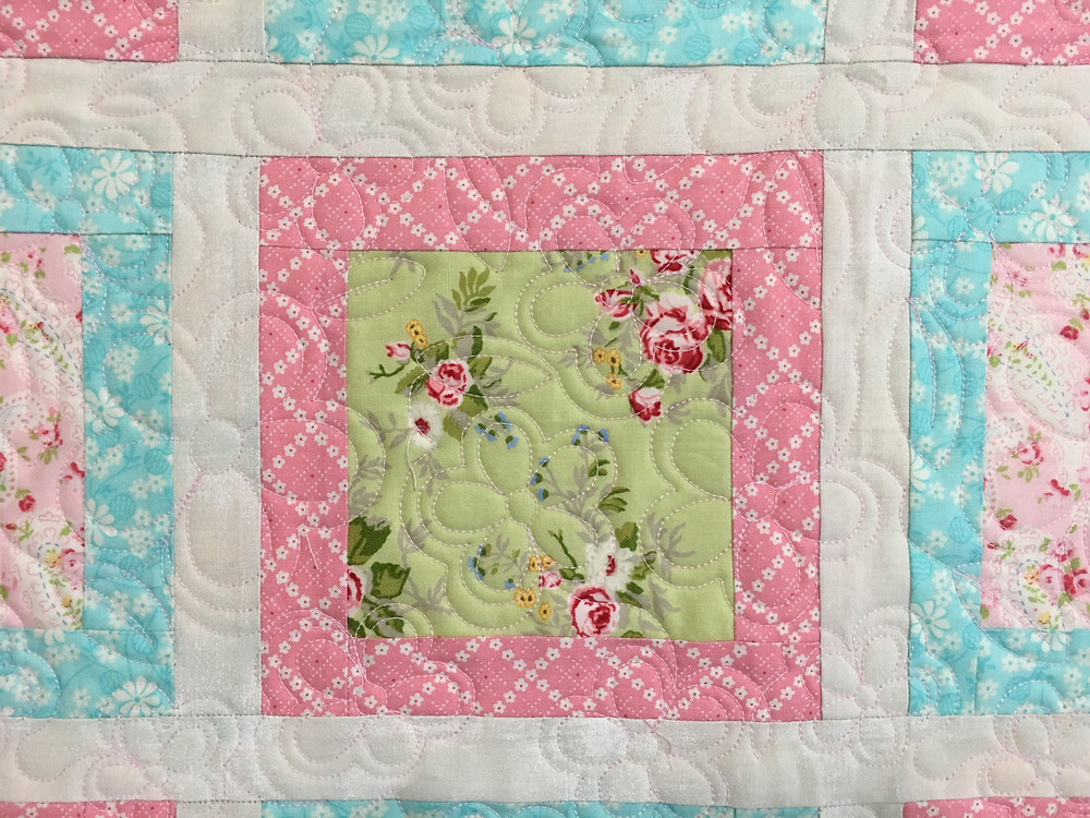 Flowers Quilting Pattern on Baby Quilt by Terri Manley
