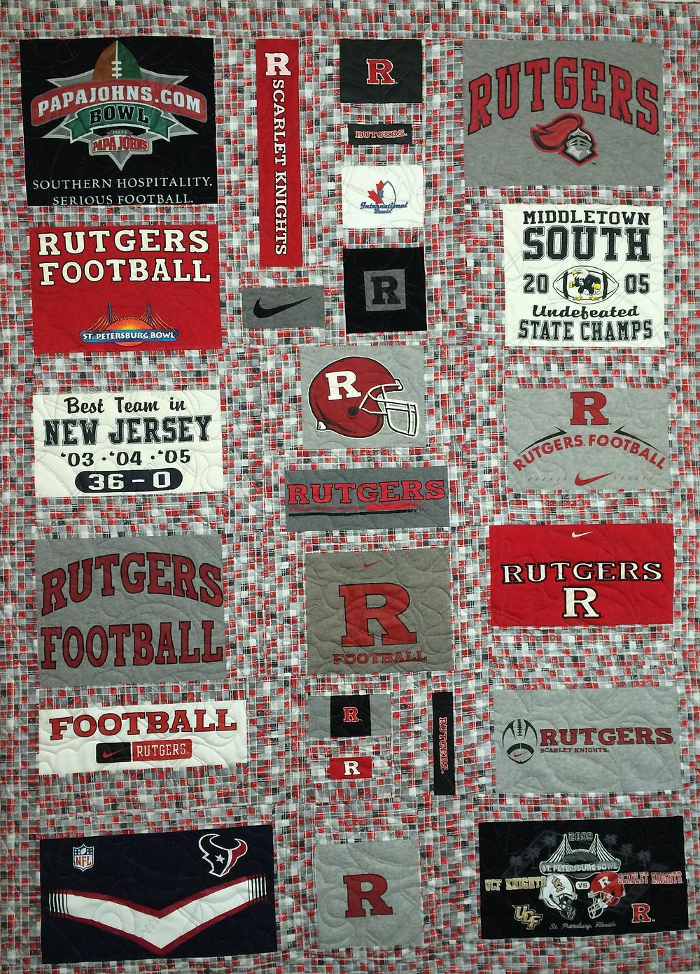 Joanne Rutgers Football Quilt