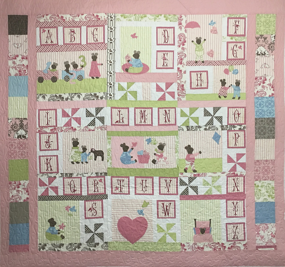 Nancy Thornton ABC of Life with Mice Quilt