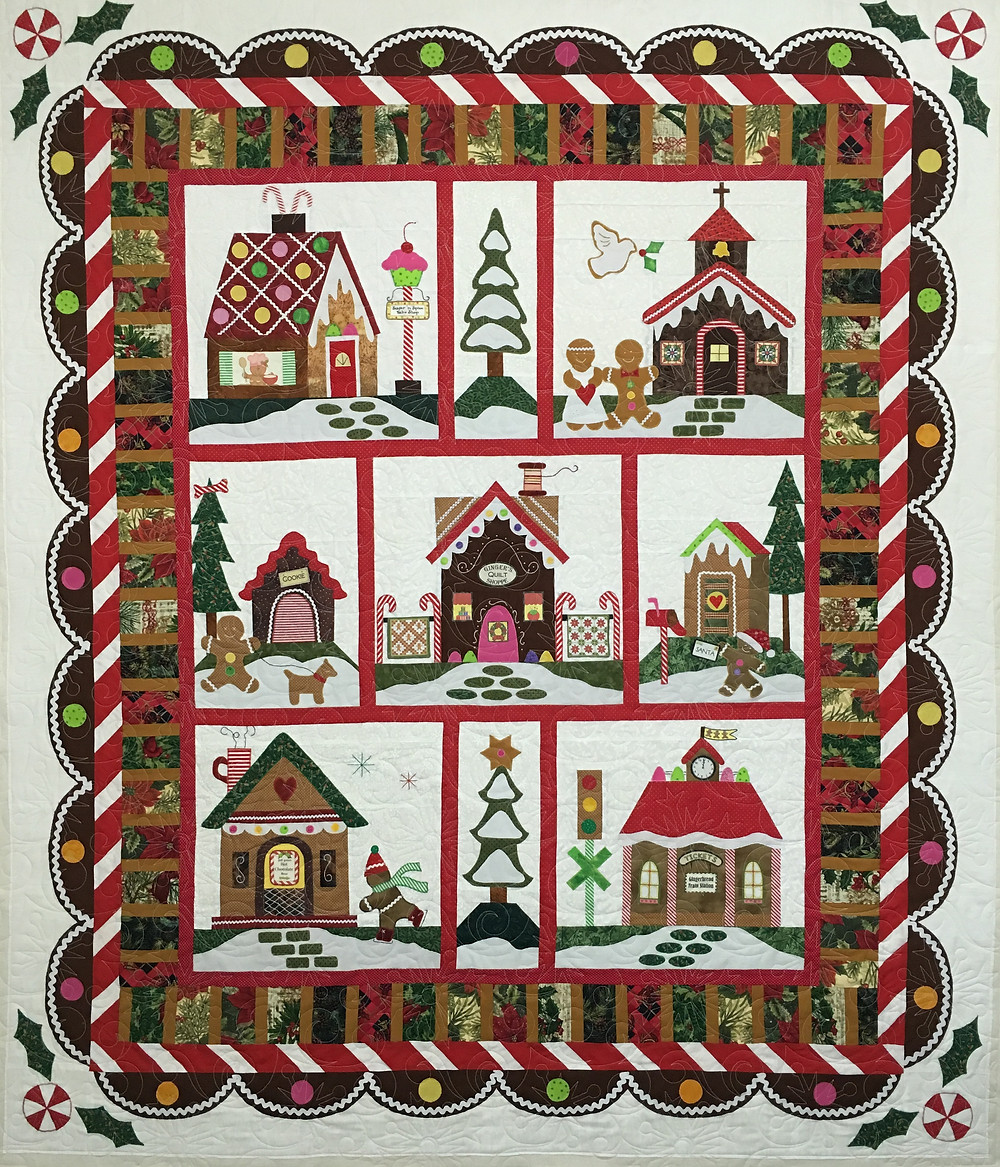 Gingerbread House Quilt by Liz Zoch