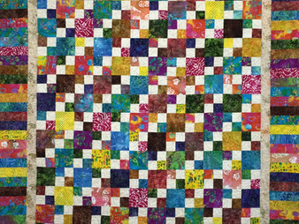 Liberty Shaffer Colorful Four Patch Quilt