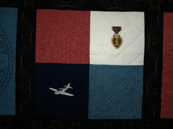 Memorial Quilt with Purple Heart