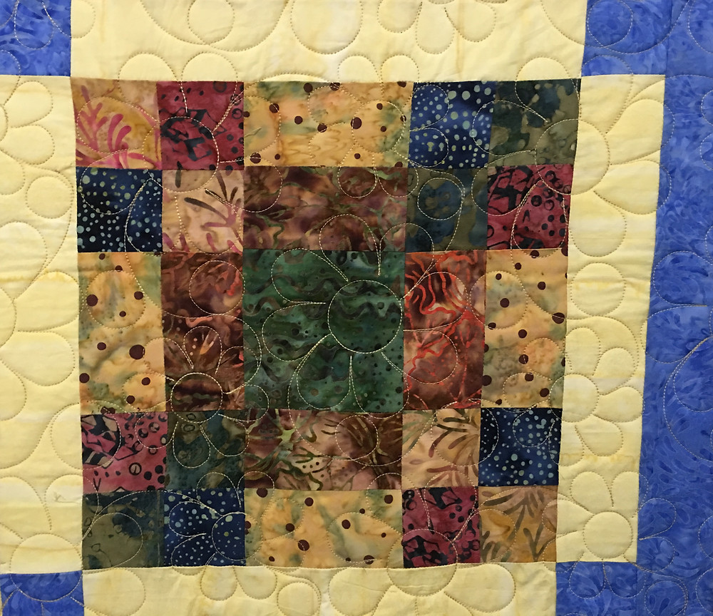 Flowers Quilting Pattern on Quilt Club Sizzie Quilt by Jocelyn Robinson