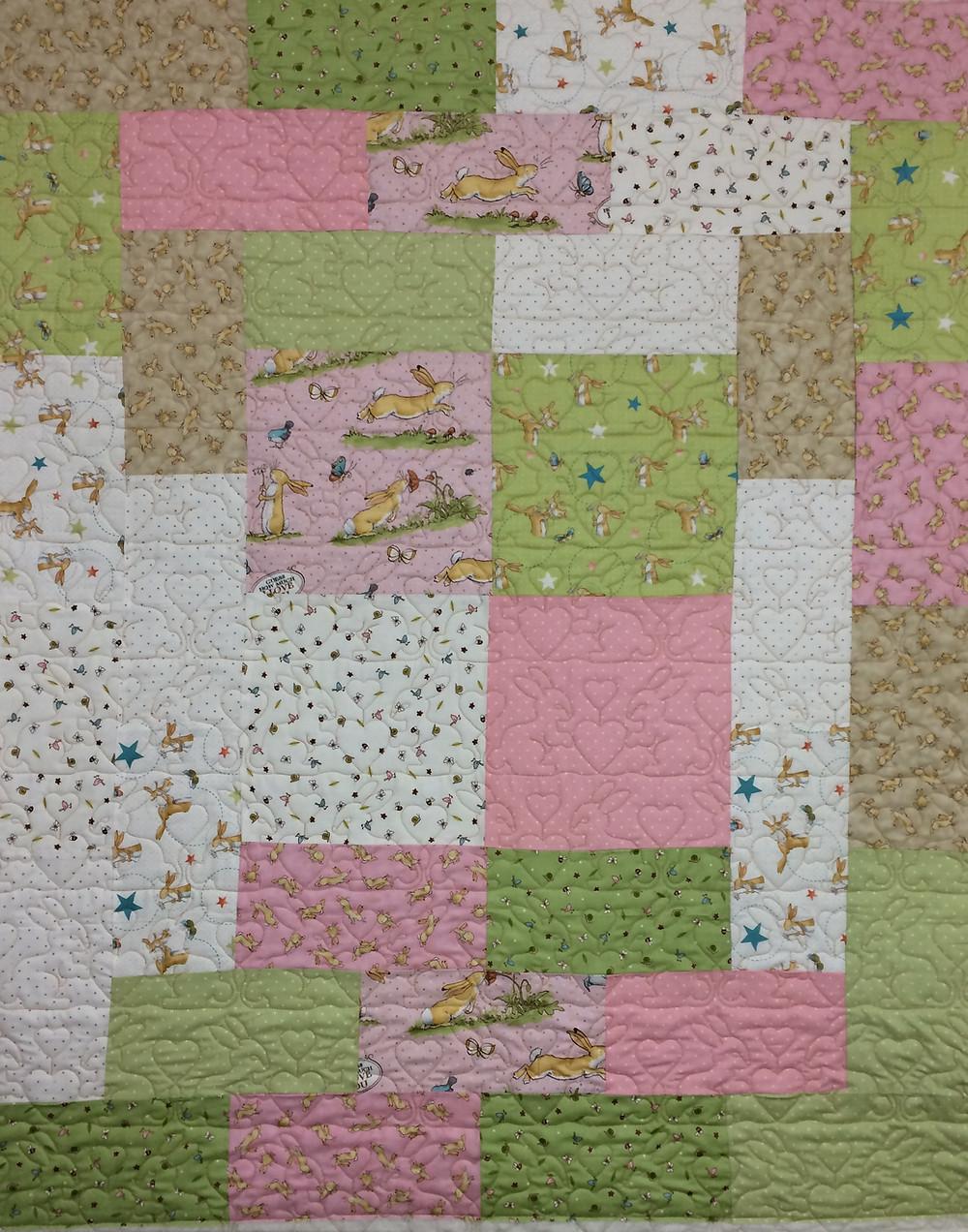 Sandra Bunny Baby Quilt