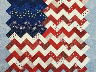 Leanne Strum Old Glory Quilt