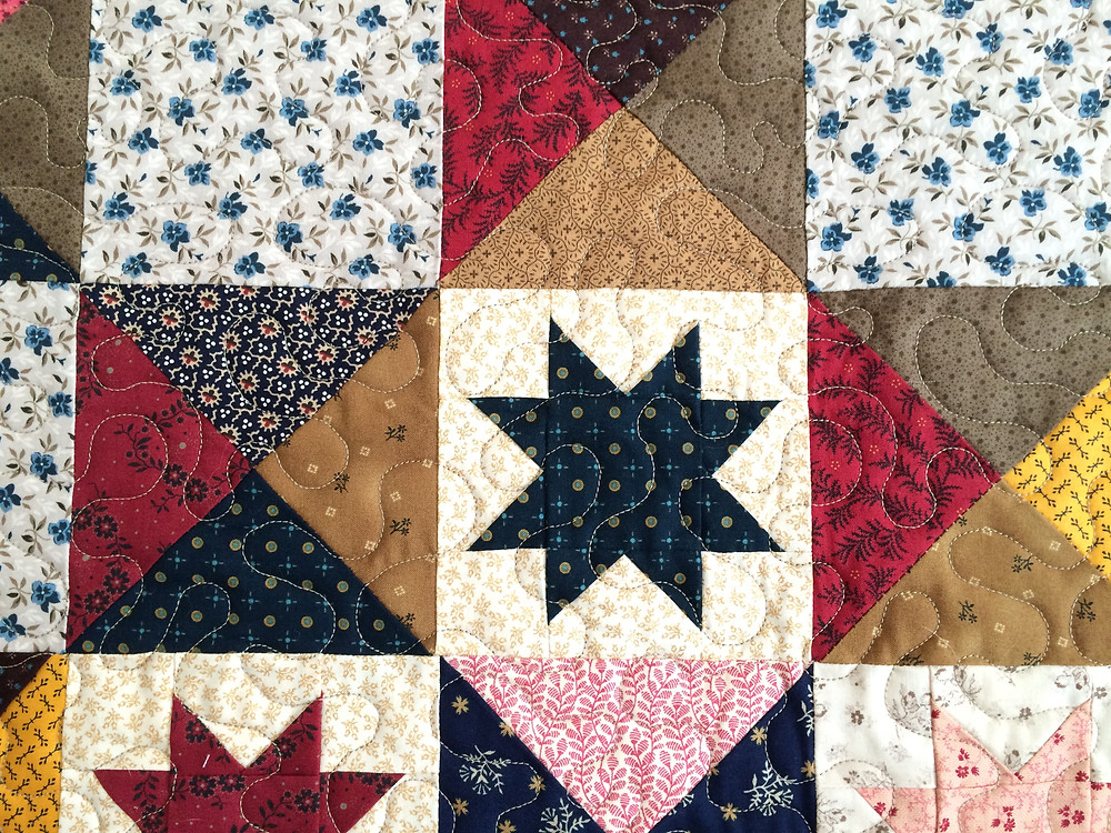closeup of Julianna Bolen Civil War Battlefield Quilt