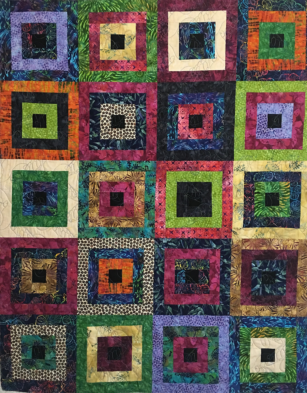 Around the Village Square Quilt by Mary VanHoomissen