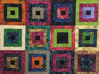 Mary VanHoomissen Around the Village Square Quilt