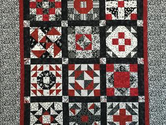 Debbie Seitz Red and Black Sampler Quilt