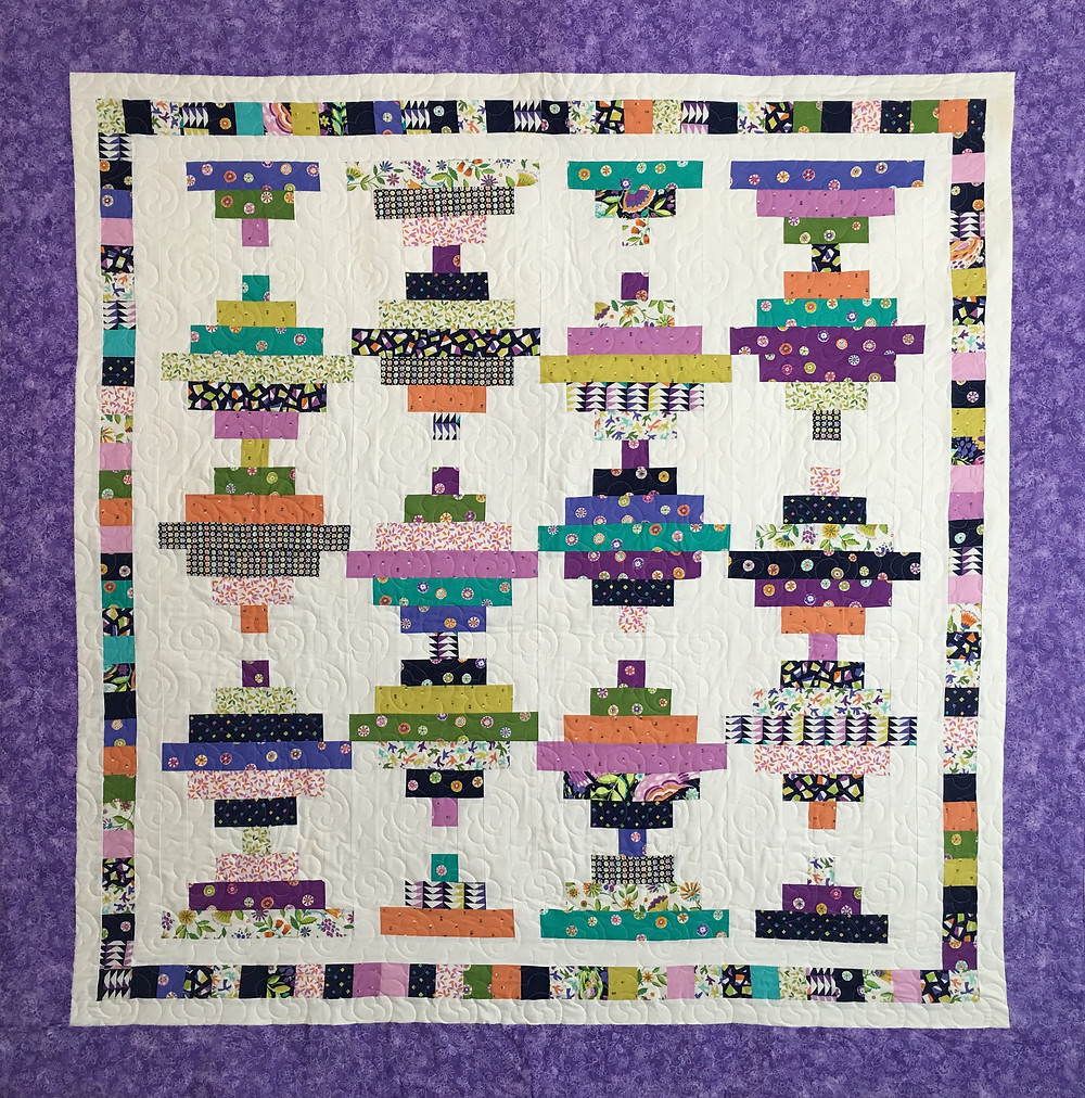 Courthouse Steps quilt by Bella Malis