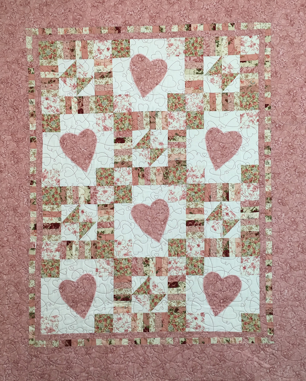 Delia Hearts for Granddaughter Quilt